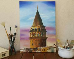 Istanbul, Dentist Art, Amazing Paintings, Disney Art, Art World, Art Pictures, Canvas Art, Abstract, Architecture