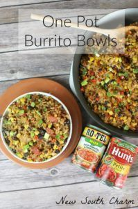 #Ad #CollectiveBias #YesYouCAN One Pot Burrito Bowls are fast and easy to make. In just thirty minutes you can have this this delicious meal on the table for your family. Plus with only one pot to clean how could you say no?
