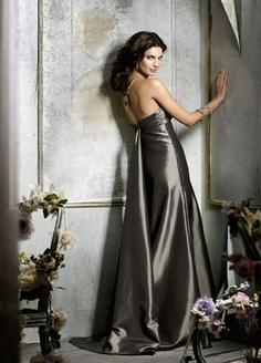 silver bridesmaids dress
