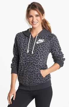 Nike 'Rally' Cheetah Print Full Zip Hoodie available at #Nordstrom