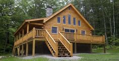 Just $35,400 for the DIY'er or $68,900 Complete Log Home Log Cabin with Log Floor Plans to Check Out