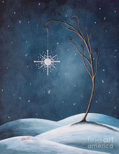 Beautiful Winterland By Shawna Erback Painting  - Beautiful Winterland By Shawna Erback Fine Art Print