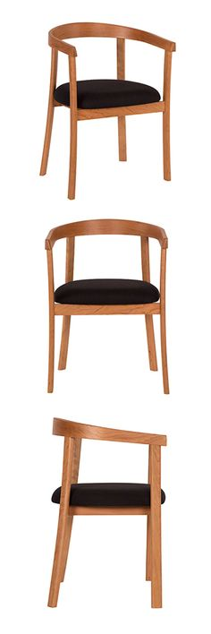The Keeler design embraces the curved form of a traditional Bank of England style chair while incorporating the clean lines sought for in mid-century modern furniture. #UniqueDesign #CherryWoodFurniture