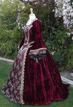 Gothic Renaissance or Medieval Fantasy Wedding by RomanticThreads