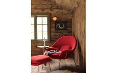 Womb™ Chair in Fabric, Chrome Frame  Designed by Eero Saarinen for Knoll®