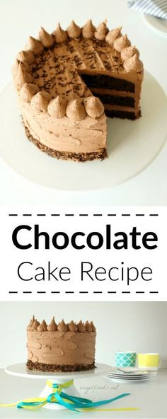 Chocolate Cake Recipe - I love the way the icing looks on this cake.
