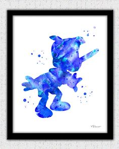 Pinocchio art print Pinocchio watercolor print by FluidDiamondArt
