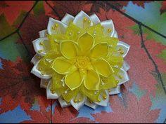 121. Яркий цветок с органзой. Видео МК. - YouTube