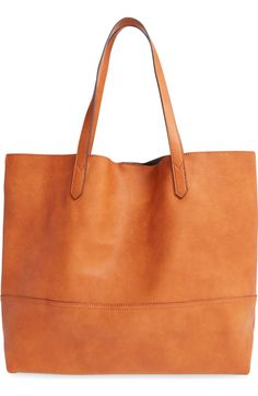 Main Image - Sole Society Oversize Faux Leather Shopper