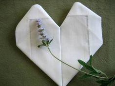 Folding a Napkin Into a Heart