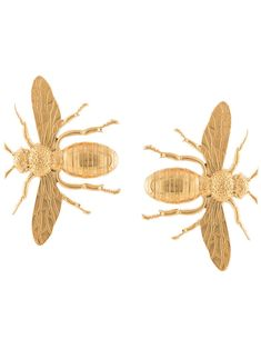 Natia X Lako Bee Oversized Earrings Farfetch In 2020 Bee Earrings Oversized Earrings Gold