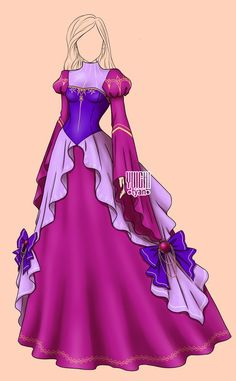 change the color scheme, remove the stupid bows, and this is almost my dream dress. Dress Drawing, Drawing Clothes, Fashion Design Drawings, Fashion Sketches, Pretty Outfits, Beautiful Outfits, Anime Dress, Dress Sketches, Fantasy Dress