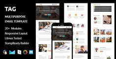 TAG - Multipurpose Responsive Email Template with Stampready Builder Access