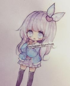 Gotta fix my sleep schedule soon (´・Д・)i am craving shortcakes and fried foods but I've been getting tummy aches lately so there are some things I try to avoid eating (・□・;) ----materials: ----------- Kawaii Chibi, Cute Chibi, Anime Kawaii, Kawaii Art, Manga Anime, Anime Chibi, Anime Art, Kawaii Drawings, Cute Drawings