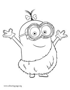 Come Check Out And Have Fun With This Amazing Free Minions Movie Coloring Page