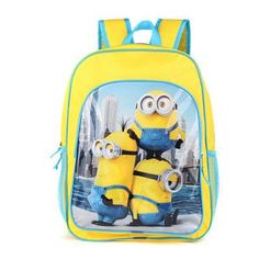 2016 New 16 Inch Cartoon Children Backpack Boys Schoolbag Minions/ The Avengers/Spider-Man/Cars Bags for Back to School Gift