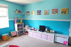 PJ's room. Kids room. Fun. Bright.
