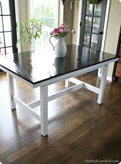 IKEA table to farmhouse table