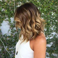 New hair highlights balayage lob haircut Ideas Sombre, Balayage Brunette, Hair Color Balayage, Brunette Hair, Balayage Lob, Long Brunette, Cabelo Ombre Hair, Hair Contouring, Lob Hairstyle