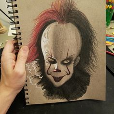 Pennywise 2017 colored pencil http://ift.tt/2wrLeGA