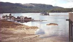 Prince of Wales: View of Thorne Bay, some float buildings, and the School District Office Floathouse from 'The Port'