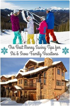Plan a budget friendly wintertime family getaway this year with these Best Money Saving Tips for Ski & Snow Family Vacations. #WinterWow #ad