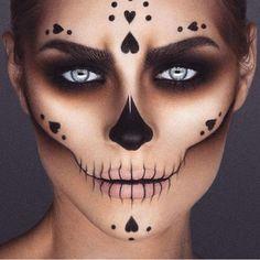 33 Einfache Sugar Skull Make-up DIY Halloween Mak. - 33 Einfache Sugar Skull Make-up DIY Halloween Make-up-Ideen 33 Einfache Su - Makeup Clown, Fx Makeup, Costume Makeup, Insta Makeup, Makeup Ideas, Scary Makeup, Makeup Brushes, Beauty Makeup, Makeup Hacks