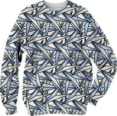 Paper Airplanes Abstract Art Sweatshirt from Print All Over Me