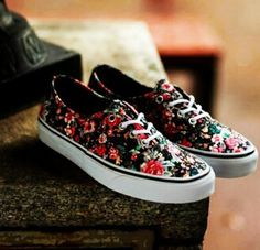 vans authentic blumen