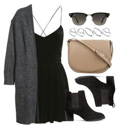 Style #11638 by vany-alvarado ❤ liked on Polyvore featuring Topshop, H&M, CÉLINE, Ray-Ban and ASOS