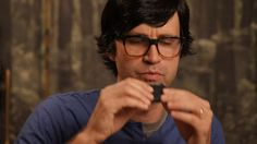 Link tries black cake ink on #GoodMythicalMorning. Episode Can You Eat That?