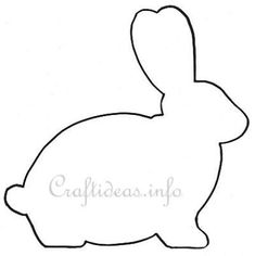 Easter Template - Easter Bunny Shape for a Wooden Easter Bunny Decoration rabbit template paper crafts Easter Bunny Template, Easter Templates, Bunny Templates, Applique Templates, Applique Patterns, Easter Projects, Easter Crafts, Spring Crafts, Holiday Crafts