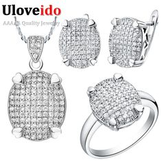 Find More Jewelry Sets Information about Rhinestone Wedding Jewelry Sets Bridal Ring and Earring Pendants Zircon Necklace Sterling Silver Set High Quality Ulove T005,High Quality jewelry love,China jewelry outline Suppliers, Cheap jewelry tools and equipment from ULOVE Fashion Jewelry on Aliexpress.com