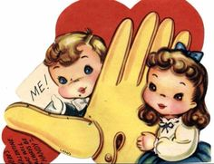 Strange & Creepy Vintage Valentines Day Cards • Page 71 of 105 • FRANK151 A GIANT RUBBER GLOVE?