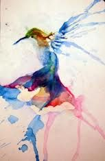 watercolor hummingbird with a quote would be cool
