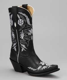 Take a look at this Black Vail Cowboy Boot - Women by Tony Lama on #zulily today!