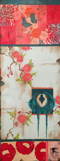 Kathe Fraga paintings www.kathefraga.com Inspired by the romance of vintage French wallpapers and Chinoiserie with a modern twist.