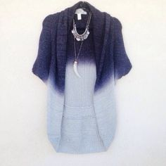 "Blue Ombré Knit Kimono Cardigan Brand: Nick and Me  Size XS but can fit a S   Soft and light! Perfect for Spring!  The color combination is absolutely lovely and super unique! Worn maybe once!  33"" shoulder down Sweaters Cardigans"
