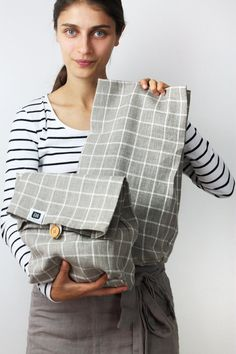 Linen+lunch+bag+for+women+linen+lunch+bag+adult+lunch+par+feellinen
