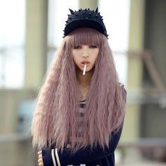 Wavy Grey-Purple Wig $26.39