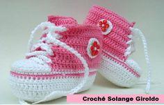 Tênis crochê bebê