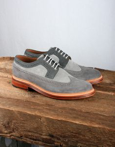 Sid Shoe w/Goodyear Welted Sole - Grey / Charcoal Suede Boys Shoes, Me Too Shoes, Men's Shoes, Dress Shoes, Urban Fashion, Men Fashion, Best Shoes For Men, Only Shoes, Awesome Shoes