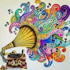 Secret Garden Coloring Book Johanna Basford Books Colouring Color Inspiration Enchanted Zentangle Beans Doodles