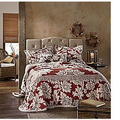 Floral Bouquet Chenille Bedspread from Seventh Avenue ®   ED43251