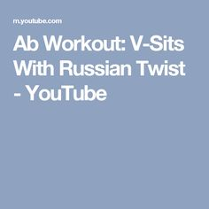 Ab Workout: V-Sits With Russian Twist - YouTube