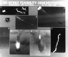On 24 October 1974, the USAF Space and Missile Systems Organization successfully conducted a Air Mobile Feasibility Test where a C-5A Galaxy aircraft air-dropped—and launched—a Minuteman ICBM from 20,000 feet over the Pacific Ocean.