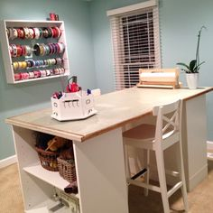 Craft room. Furniture from Ikea