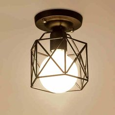 28.98$  Watch here - http://alibra.shopchina.info/go.php?t=32568642216 - Ceiling Lamp American country Style Steel Cage Ceiling Light Corridor entrance balcony room hall iron lamps  #shopstyle
