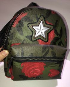 cbe2e28a4 Authentic Coach Mini Charlie Backpack Purse with Camo Rose Floral Print  #fashion #