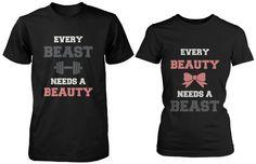 Couples Shirts Every Beauty Needs a Beast. by 365inlovedotcom